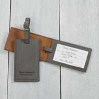 Signature Series Charcoal Personalized Bag Tag