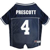 NFL Dallas Cowboys Dak Prescott Small Dog and Cat Football Jersey