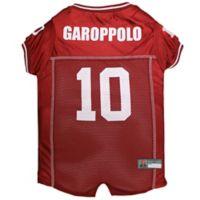 NFL San Francisco 49ers Jimmy Garoppolo Size Z Dog and Cat Football Jersey