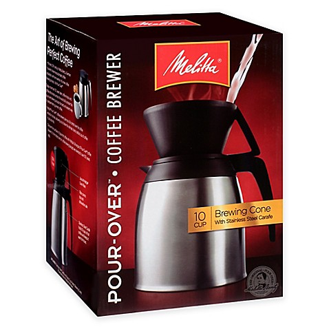 Melitta 174 Thermal Stainless Steel 10 Cup Pour Over Coffee