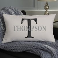 Monogram Personalized Lumbar Throw Pillow