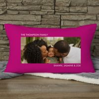 Picture Perfect Personalized Lumbar-Photo Pillow - One-Photo