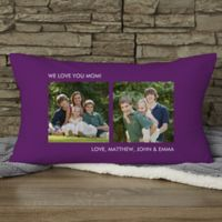 Picture Perfect Personalized Lumbar 2-Photo Pillow