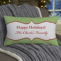 Classic Holiday Personalized Lumbar-Photo Throw Pillow
