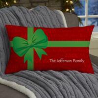 Christmas Present Personalized Lumbar Throw Pillow