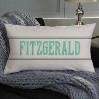 Milestone Dates Family Personalized Lumbar Throw Pillow