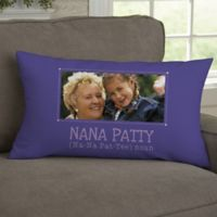 Definition of Grandma Personalized Lumbar-Photo Pillow