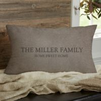 Heart Of Our Home Personalized Lumbar Throw Pillow