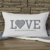 Close To Her Heart Personalized Lumbar Throw Pillow
