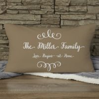 Together... Personalized Lumbar Throw Pillow