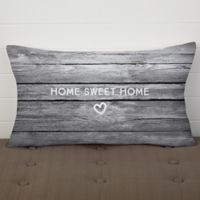 Home Is Love Personalized Lumbar Throw Pillow