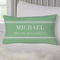 His Name Means Personalized Lumbar Throw Pillow