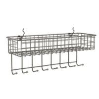 Spectrum™ Pegboard Basket and Hook Station in Grey