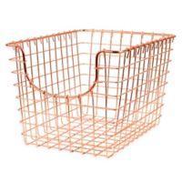 Spectrum™ Small Metal Scoop Basket in Copper