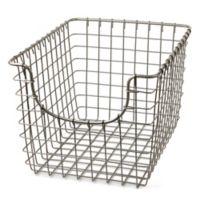 Spectrum™ Small Metal Scoop Basket in Nickel