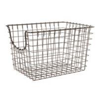 Spectrum™ Small Metal Scoop Basket in Grey