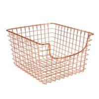 Spectrum™ Medium Metal Scoop Basket in Copper