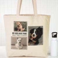 Three Photo Personalized Canvas Tote