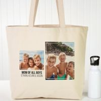 Two Photo Personalized Canvas Tote