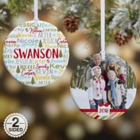 2-Sided Whimsical Winter Family PZ Ornament- Small
