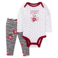 Lamaze® Newborn 2-Piece Roses Bodysuit and Legging Set