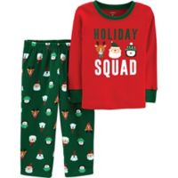 carter's® Size 12M 2-Piece Holiday Squad Christmas Pajama Set in Red/Green