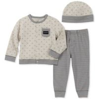 Calvin Klein Size 3-6M 3-Piece Take Me Home Cardigan Set in Grey