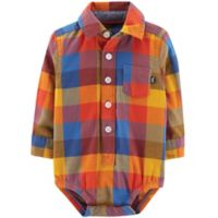 OshKosh B'Gosh® Size 18-24M Plaid Bodysuit