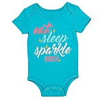 BWA® Size 3M Eat Sleep Sparkle Short Sleeve Bodysuit in Teal