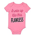 "BWA® Size 3M ""Flawless"" Short Sleeve Bodysuit in Pink"