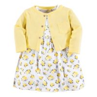 Luvable Friends® Size 4T 2-Piece Floral Dress and Cardigan Set in Yellow