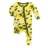 KicKee Pants® Newborn Lime Blossom Footie in Green