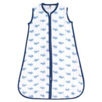Hudson Baby® Size 0-6M Whale Wearable Sleeping Bag in Blue