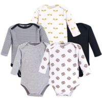 Hudson Baby® Size 18-24M 5-Pack NYC Long Sleeve Bodysuits in Yellow