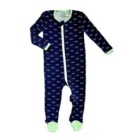 Silkberry Baby® Size 0-3M Waves Footed Sleeper