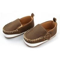 Rising Star™ Size 0-3M Soft Sole Shoes in Brown