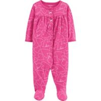 carter's® Size 9M Heart Long Sleeve Footie in Pink