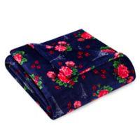 Betsey Johnson® French Floral Passport Blue King Blanket
