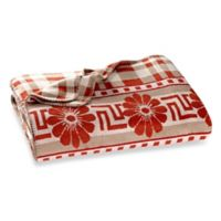Beacon Nomad Plaid Reversible Twin Throw Blanket in Beige/Coral