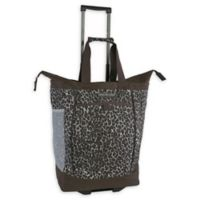 Pacific Coast 20.5-Inch Rolling Shopper Tote Bag in Leopard