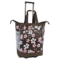 Pacific Coast 20.5-Inch Rolling Shopper Tote Bag in Floral