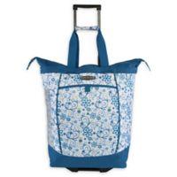 Pacific Coast 20.5-Inch Rolling Shopper Tote Bag in Daisy Blue