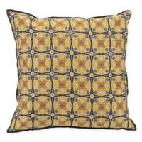 Splendor Square Throw Pillow in Yellow