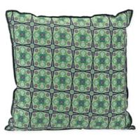 Splendor Square Throw Pillow in Green