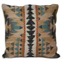 South West Woven Square Throw Pillow in Brown