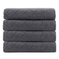Enchante Home® Gracious 4-Piece Turkish Cotton Towel Set in Anthracite