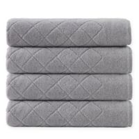 Enchante Home® Gracious 4-Piece Turkish Cotton Towel Set in Silver
