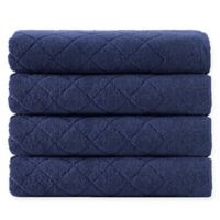 Enchante Home® Gracious 4-Piece Turkish Cotton Towel Set in Navy