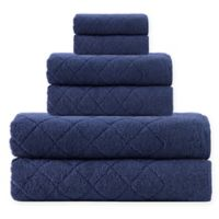 Enchante Home® Gracious 6-Piece Turkish Cotton Towel Set in Navy