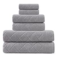 Enchante Home® Gracious 6-Piece Turkish Cotton Towel Set in Silver